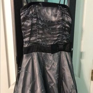 Dresses & Skirts - Silver homecoming dress